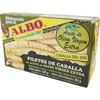 Filete caballa albo aceite oliva virgen 125gr.