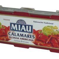 Calamares miau salsa americana P/3.