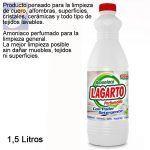 Limpiador amoniaco con/detergente lagarto 1,5L.