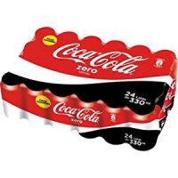Coca-cola zero 33cl lata en paquete 24 uni.