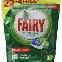 Vajillas pastillas fairy 22+4 pastillas.