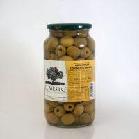 Aceitunas sabor Anchoa (EL MESTO) peso neto 900gr.