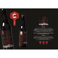 Capitan Stout cerveza artesana. Pack de 6 uni.