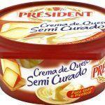 Crema de queso president sim-curado 125gr.