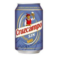 Paquete lata cruzcampo 33 cl. sin alc.